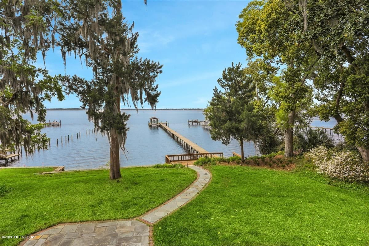 Brick riverfront mansion on bluff overlooking St Johns River mansions