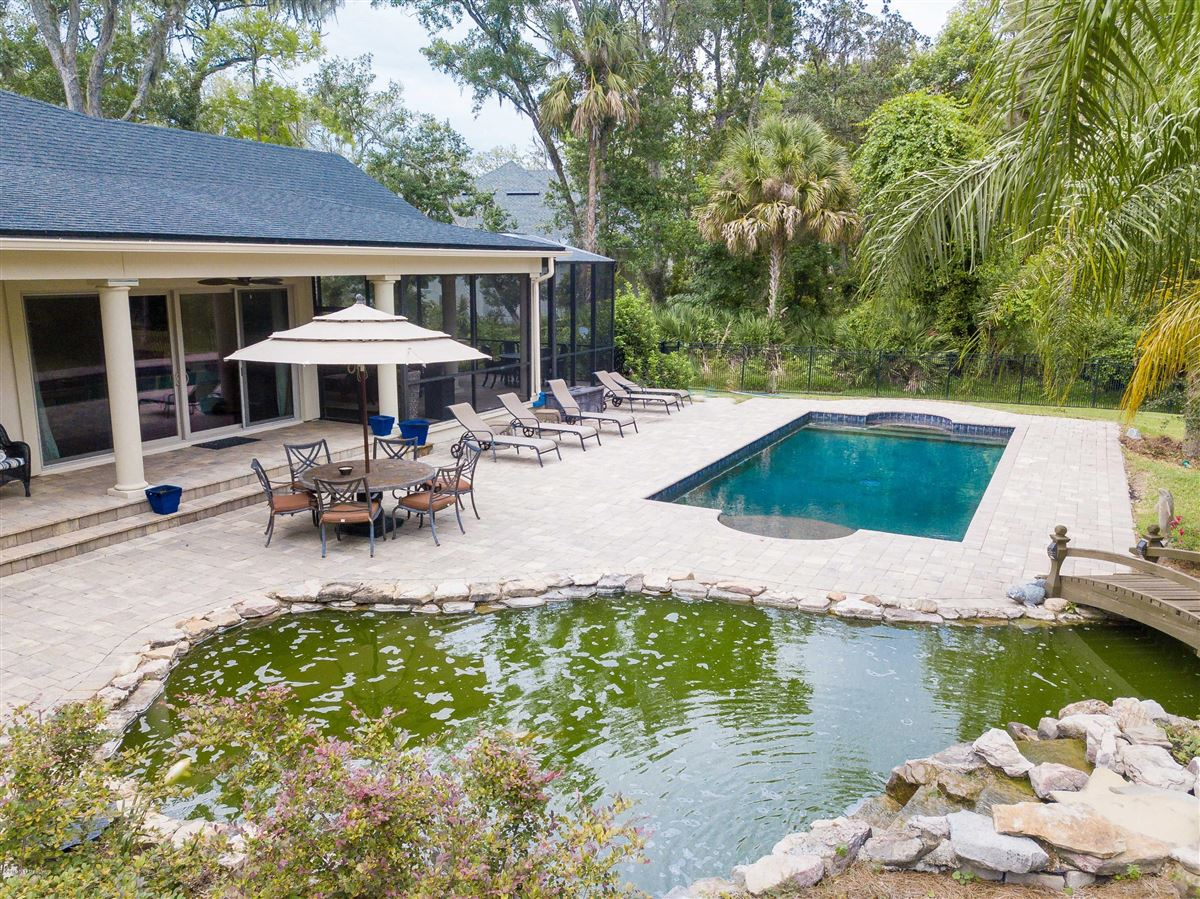 Luxury real estate Luxurious estate home on a private preserve lot