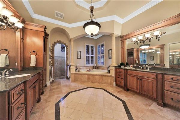 luxury Spanish Mediterranean style in Reserve at Lake Butler Sound mansions