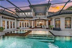 Mansions in luxury Spanish Mediterranean style in Reserve at Lake Butler Sound