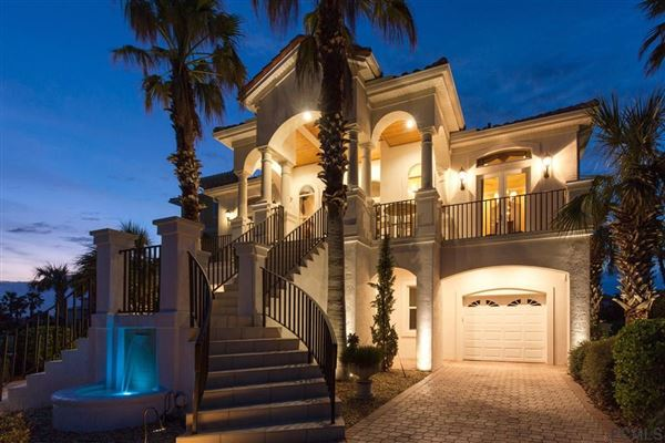 Luxury real estate custom home steps from the beach
