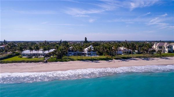 Casually elegant oceanfront home in vero beach luxury real estate