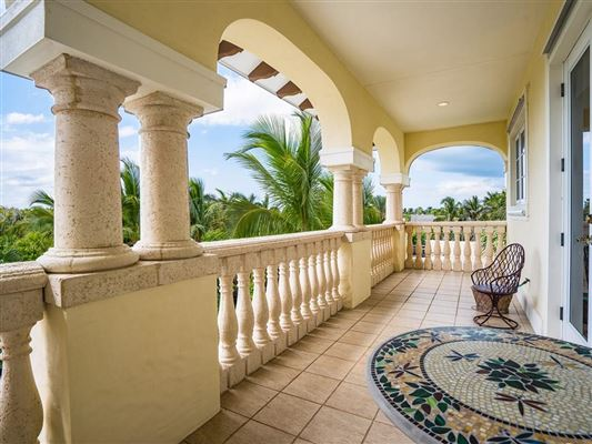 Luxury homes in private oceanfront estate with four balconies