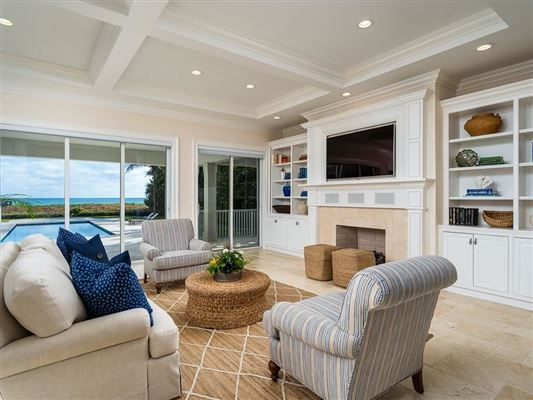 Luxury real estate Magnificent oceanfront estate in vero beach
