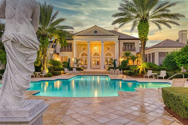 Opulent waterfront estate luxury homes