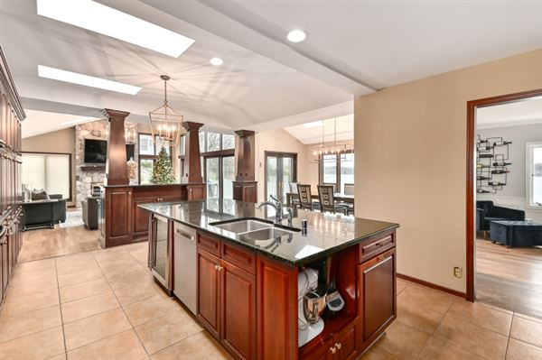 Luxury real estate This spectacular updated lake home has over 230 feet of pristine frontage