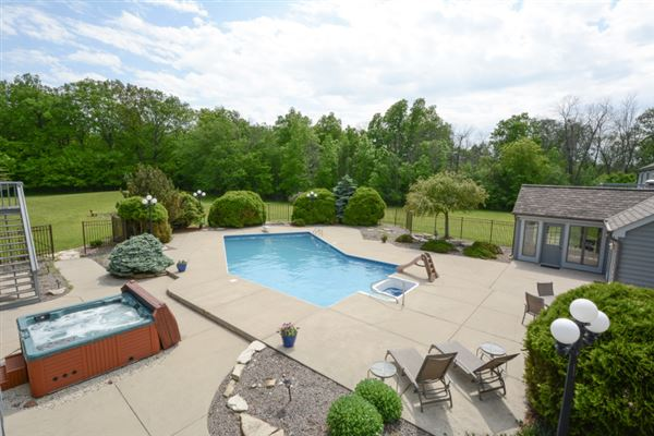 Luxury real estate private five-plus acre estate