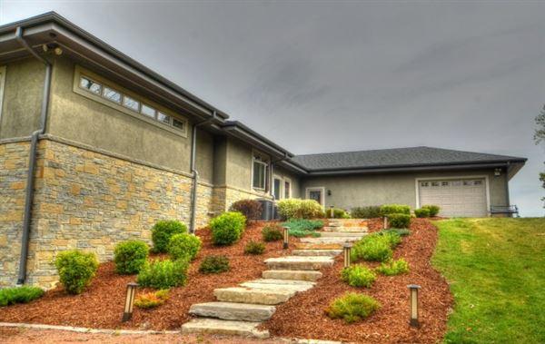 Elegant Custom Prairie Style home luxury homes