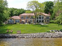 South Beach inspired home on Oconomowoc Lake luxury properties