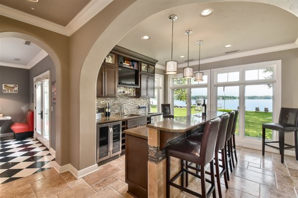 South Beach inspired home on Oconomowoc Lake mansions