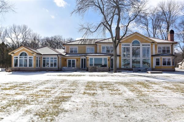 Luxury real estate South Beach inspired home on Oconomowoc Lake
