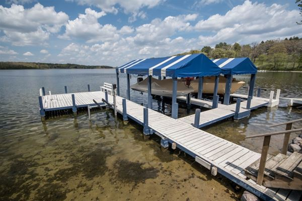 This year-round Lake Beulah home features incredible views on the lake  luxury real estate