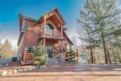 Stunning Log Home Masterpiece  mansions