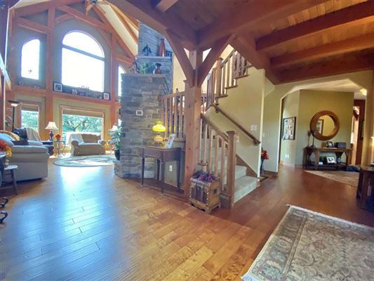 Luxury properties rare timber framed home