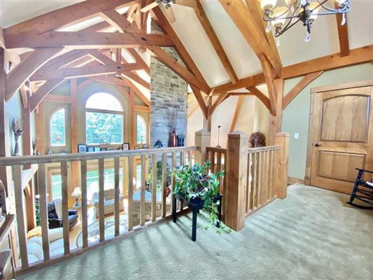 Luxury homes in rare timber framed home