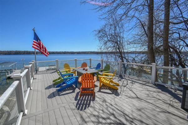 Luxury homes Elegant yet inviting lakefront living