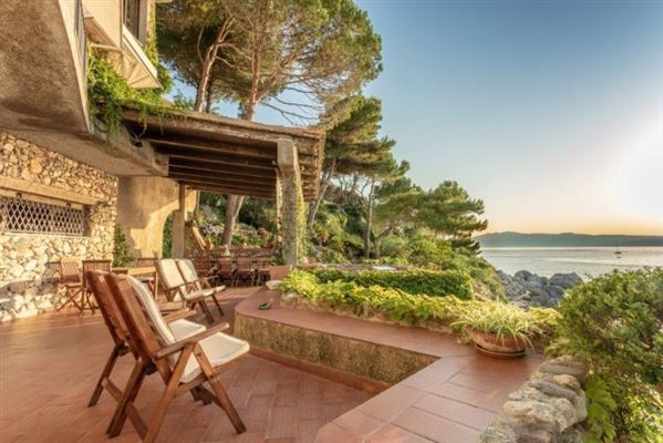 Luxury real estate beautiful villa offers exclusive access to the sea