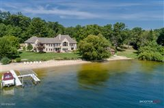 Mansions in Private White Lake Frontage - Lake Michigan Access