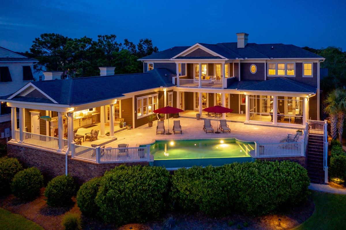 Luxury homes in meticulously-kept luxurious waterfront estate
