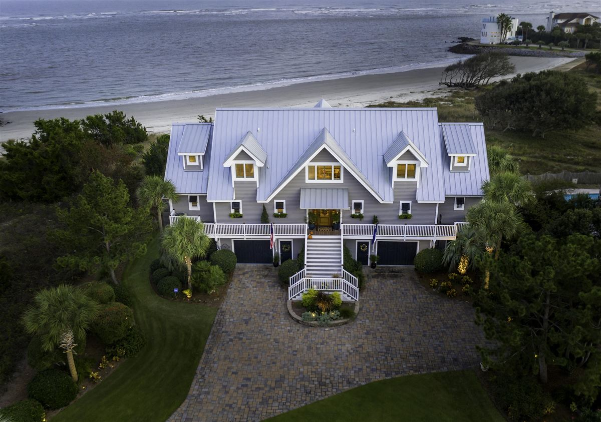 Ocean front home in sullivans island mansions