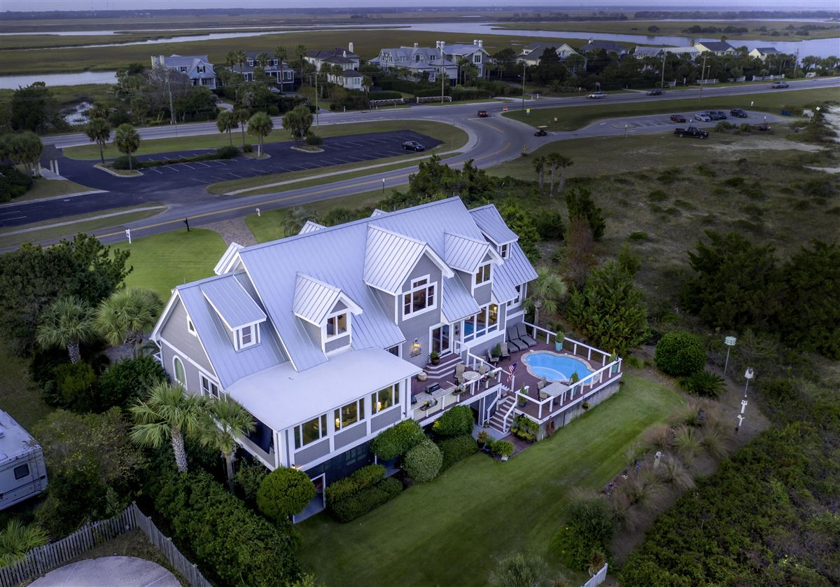 Mansions in Ocean front home in sullivans island