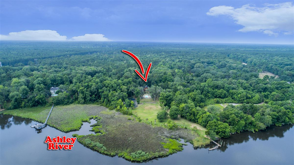 5 acre wooded estate on the Ashley River luxury real estate