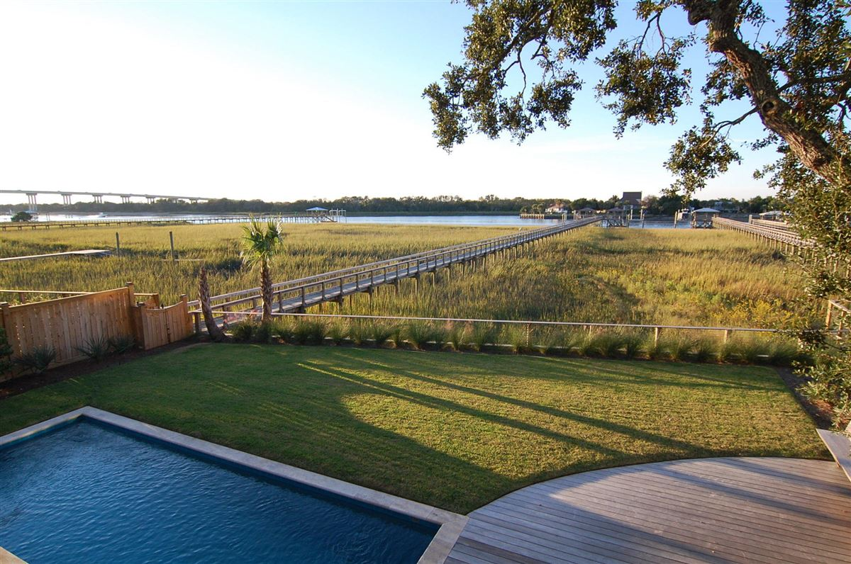 Luxury homes in unique waterfront property
