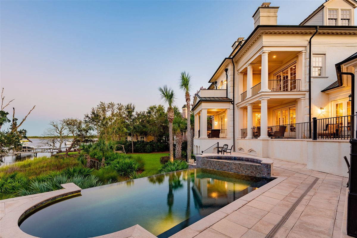 three-story deepwater home on Ralston Creek luxury homes