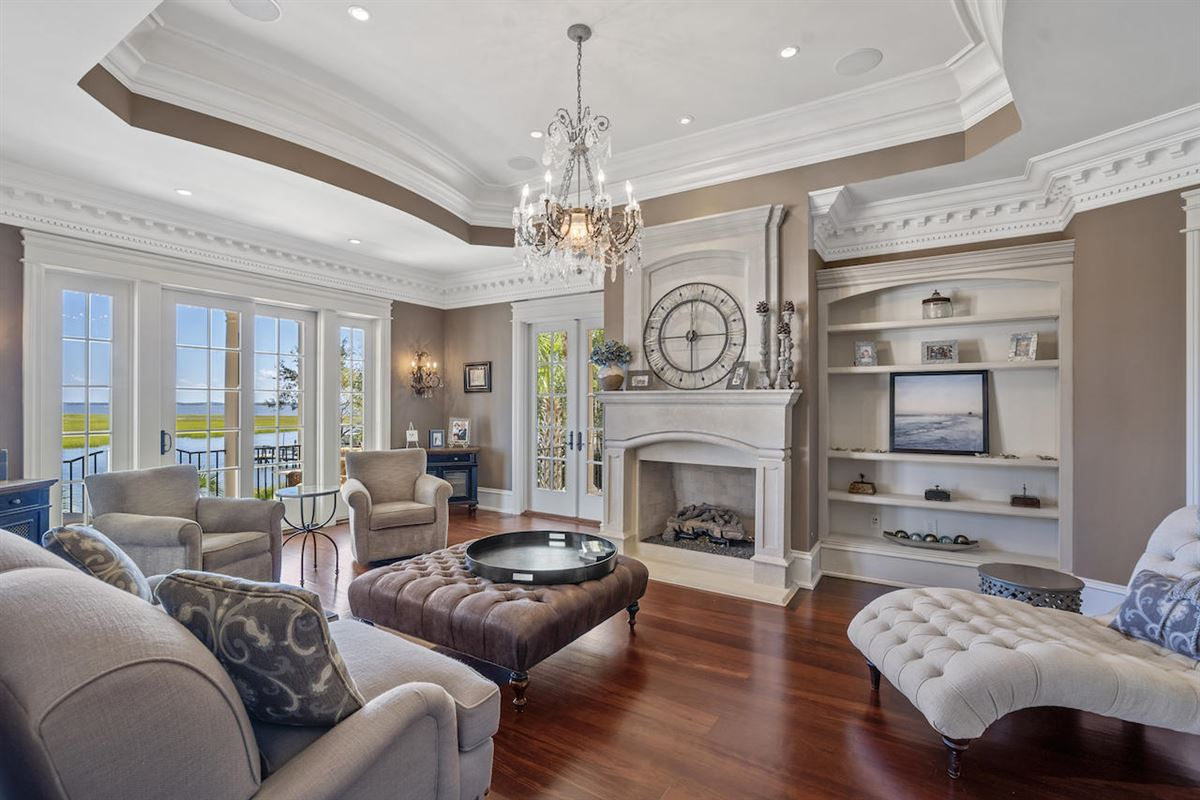 Luxury homes in three-story deepwater home on Ralston Creek