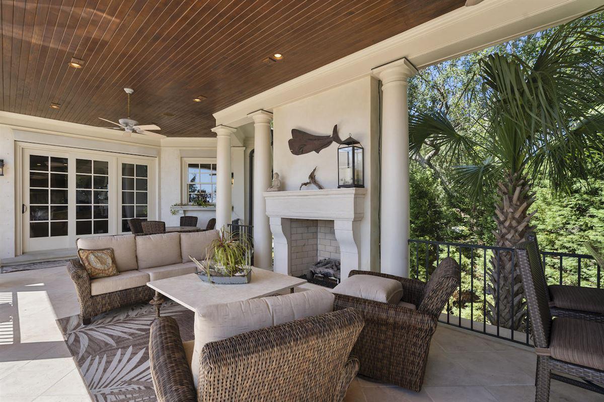 Luxury homes three-story deepwater home on Ralston Creek