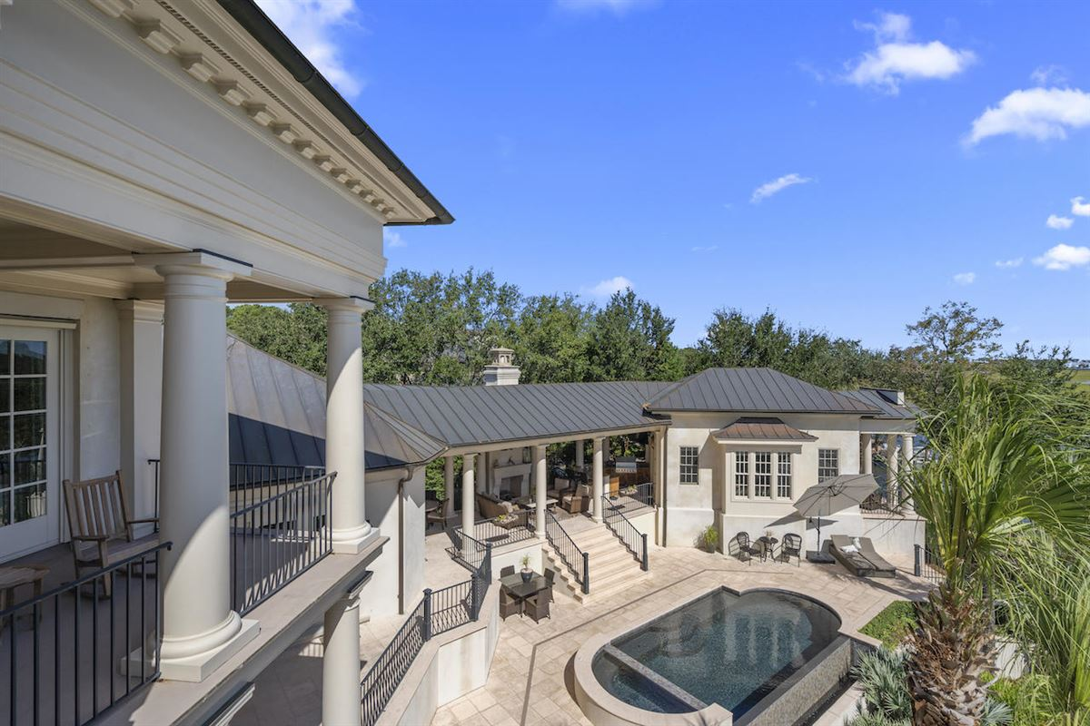 Luxury properties three-story deepwater home on Ralston Creek