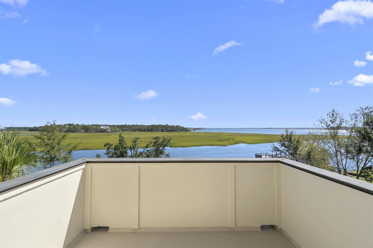 Luxury real estate three-story deepwater home on Ralston Creek