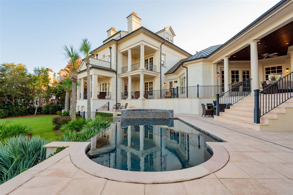 Mansions three-story deepwater home on Ralston Creek