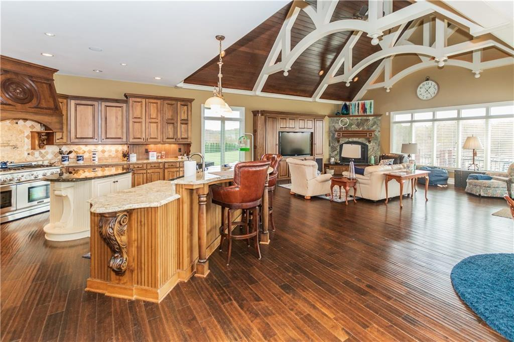 Mansions Waterfront Home with View of Geist Lake