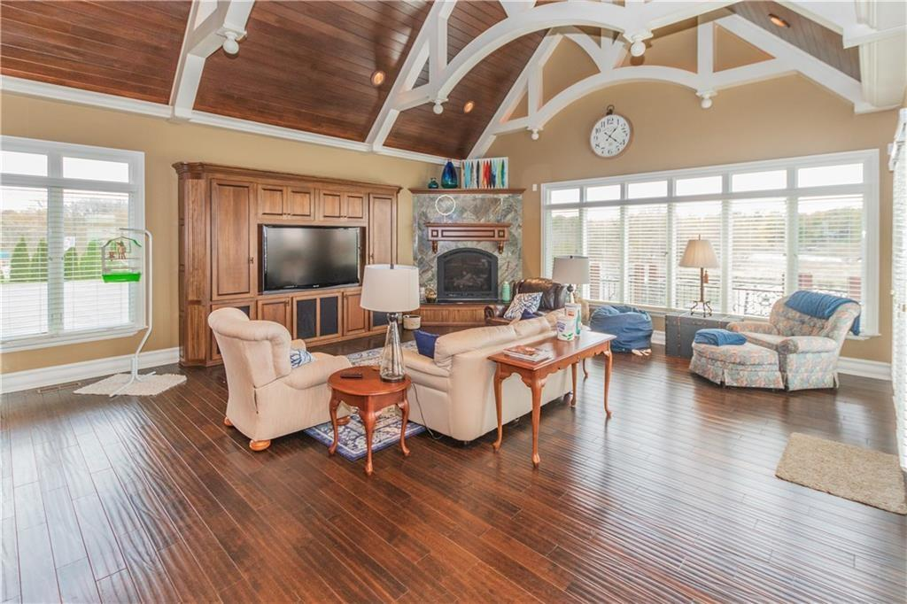 Waterfront Home with View of Geist Lake mansions