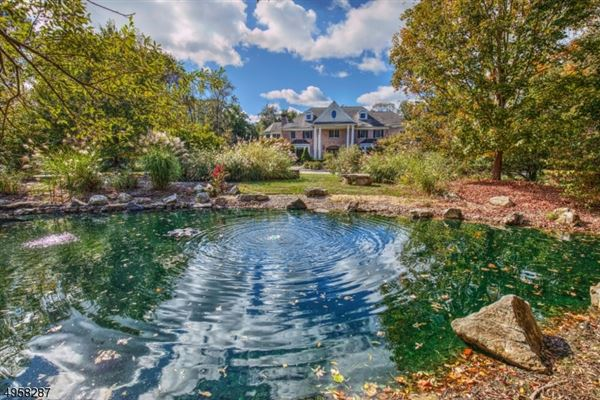 exceptional custom home is situated on 10.14 acres of open and wooded land  luxury real estate