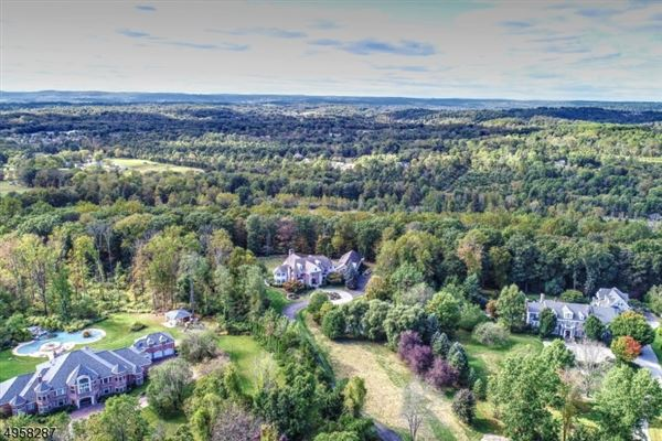 Mansions exceptional custom home is situated on 10.14 acres of open and wooded land