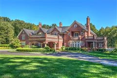 Stately brick Manor home atop Bernardsville Mountain mansions