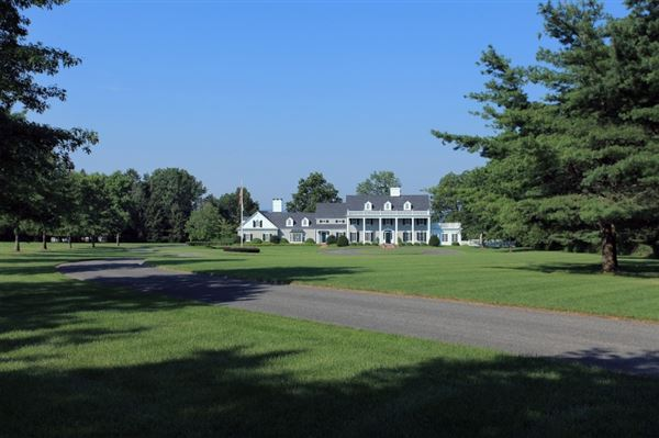 Luxury real estate custom colonial on ten prime acres