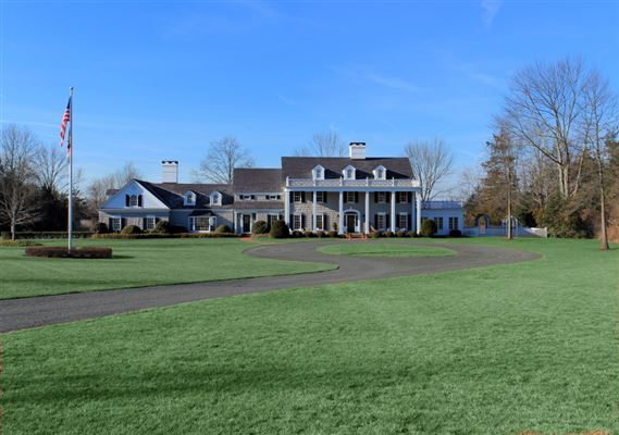 Mansions custom colonial on ten prime acres