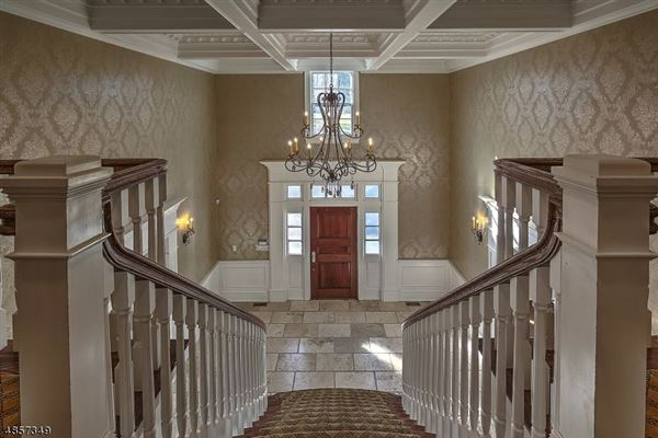 Federal style custom home in bernardsville luxury real estate