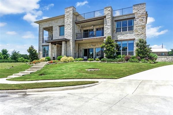 Luxury real estate one of a kind home on a large lot in gated community