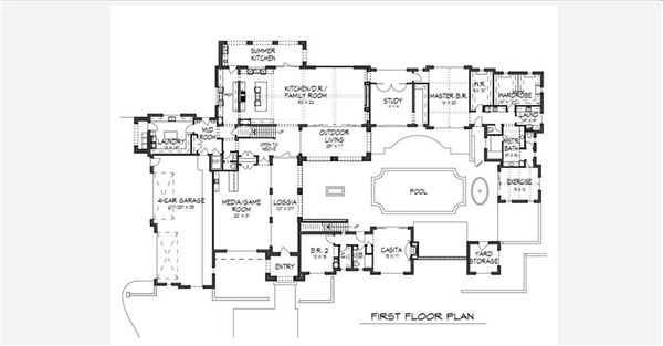Luxury properties proposed custom home in Quail Hollow