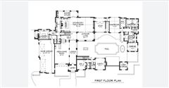 Luxury real estate proposed custom home in Quail Hollow