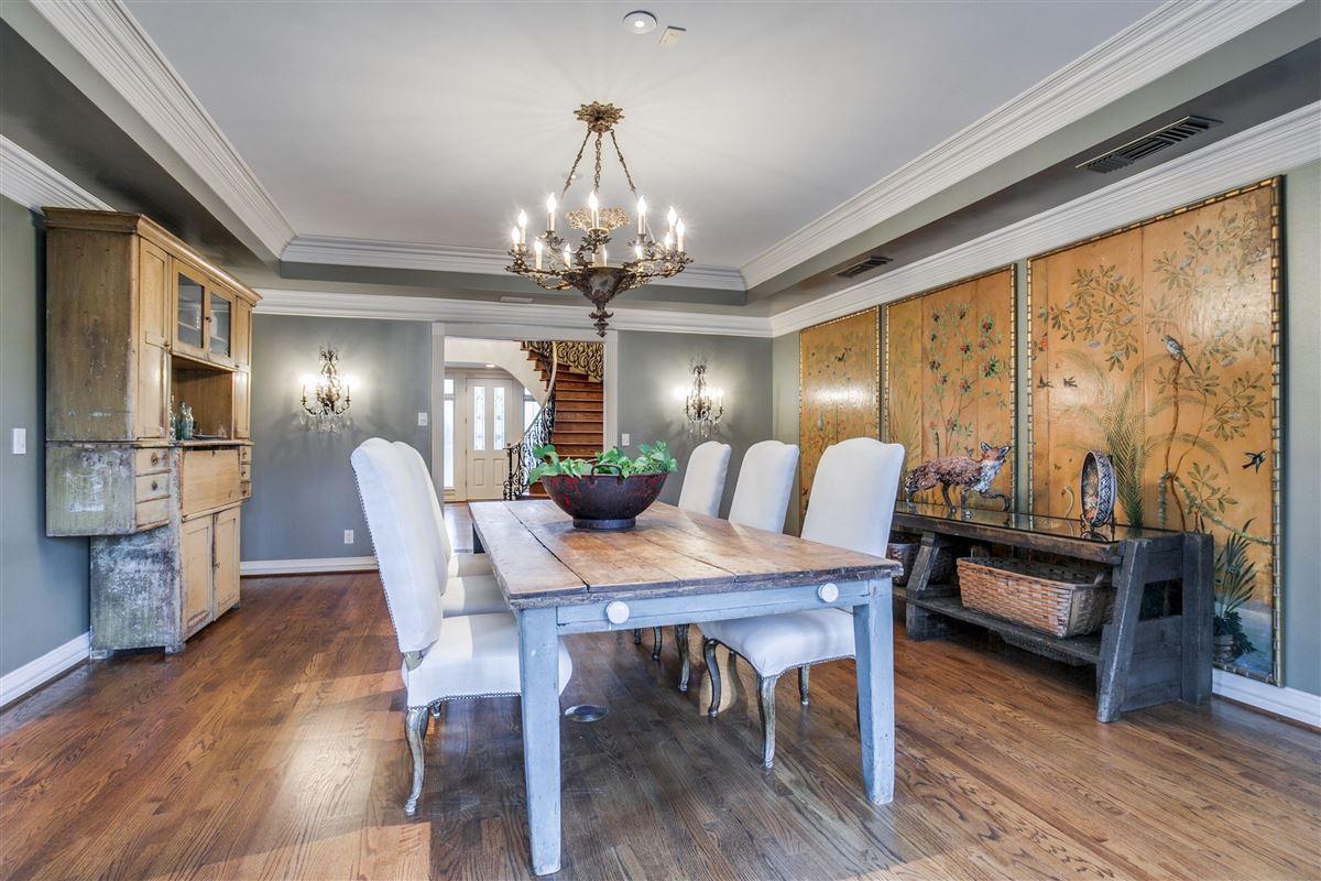 Luxury real estate Timeless elegance on an Old Preston Hollow corner lot