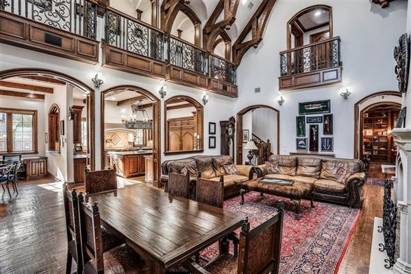 Luxury homes dallas home Inspired by great estates in England