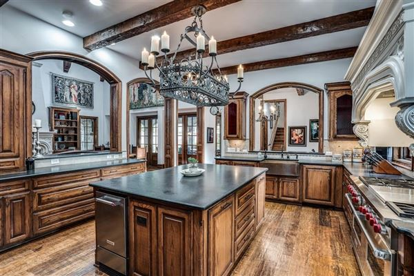 dallas home Inspired by great estates in England luxury real estate