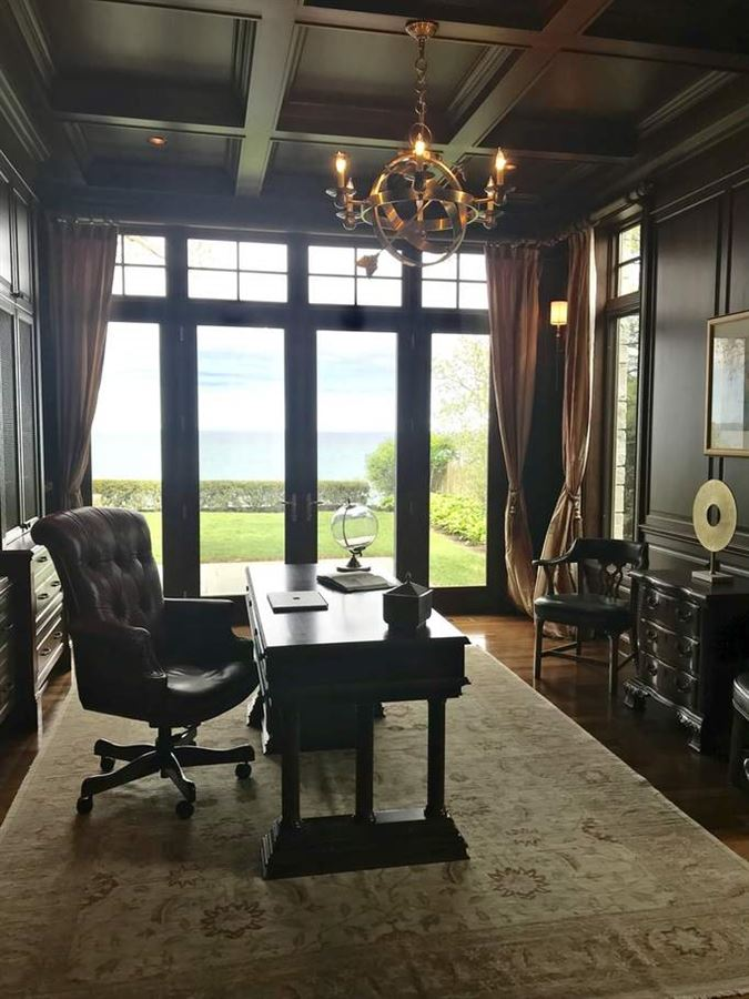 home on the lake in East Highland Park luxury real estate