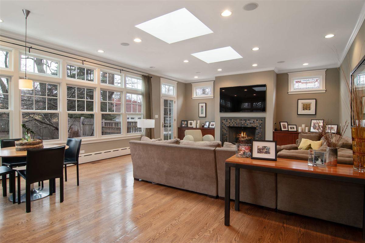 Luxury properties Gracious center entrance brick home