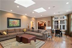 Luxury real estate Gracious center entrance brick home